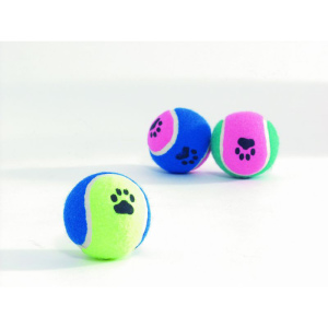 Photo №1. Toy for dogs Beeztees Tennis ball with paw prints, multi-colored, 6.5 cm. Color in the city of Minsk. Price - 1$. Announcement № 994